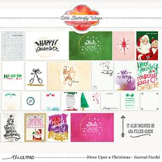 Once Upon a Christmas {journal cards} by Little Butterfly Wings at The Lilypad