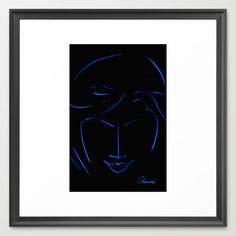 Seriously Black and Blue Framed Art Print