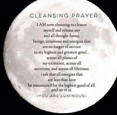 Cleansing prayer