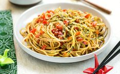 Get ready for warmer weather by sprucing up your raw culinary skills with these light noodles.
