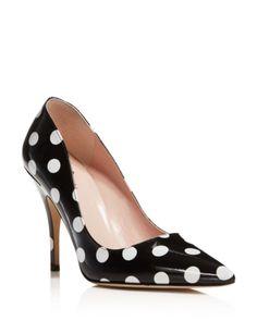kate spade new york Licorice Polka Dot Pointed Toe High Heel Pumps