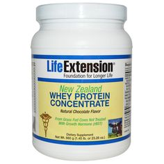 Life Extension, New Zealand Whey Protein Concentrate, Natural Chocolate Flavor, 23.28 oz (660 g) - iHerb.com