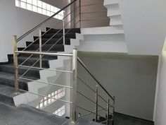 Balustrade Inox Centrul Civic Bucuresti Balustrade Inox, Stairs, Home Decor, Products, Stairway, Decoration Home, Room Decor, Staircases, Home Interior Design