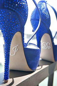 6ceeeb2926e5 Something blue wedding shoes high heels crystal