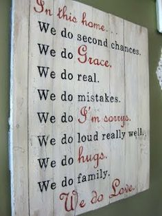 """We do love"" Wood Sign - Aimee Weaver Designs"