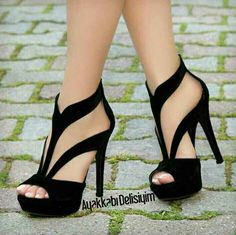 Fantastic heels - high heels - Schuhe - Best Shoes World High Heels Boots, Platform High Heels, Black High Heels, Pumps Heels, Stiletto Heels, Shoe Boots, Heeled Sandals, Woman Shoes High Heels, Black Strappy Sandals Heels