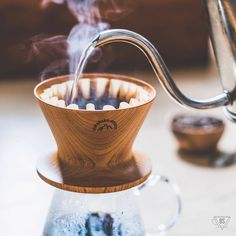 Repost @brew_stories - Our Yasukiyo Wooden Dripper Natural looking cool  Link in bio  BSx056  This is a brew story. The brew depicted in this photo took place in Sydney in 2017. Kalita and Yasukiyo spent a Saturday morning together. It was steamy. Truly. ( # @brew_stories via @latermedia )