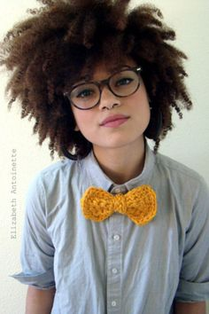 Hmm, I've seen crocheted ties before, but not crocheted bow ties... Does it work? I think at the very least it's cute.
