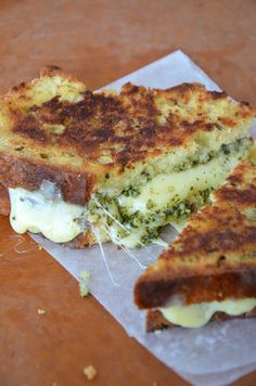 pesto grilled cheese--amazing