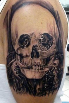 Not a skull girl - but this hidden image tattoo is frickin awesome!