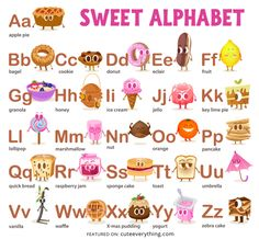 Free Sweet Alphabet Printable