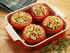190 calorie Tuna Stuffed Tomatoes Recipe | Healthy Meal Ideas from Bumble Bee