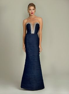 Strapless Ruched Jovani Gown