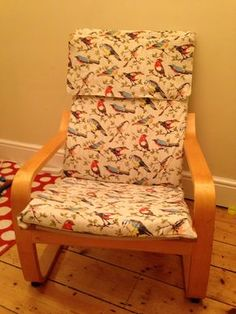 Ikea Poang chair recover tutotial project with Cath Lidston Garden Birds fabric Ikea Kids Chairs, Ikea Kids Desk, Ikea Kids Bedroom, Desk Chairs, Composite Adirondack Chairs, Adirondack Chairs For Sale, Patio Chair Cushions, Diy Chair, Ikea Poang Chair