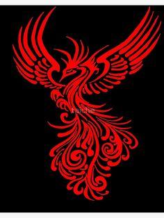 Phoenix Tattoo Feminine, Small Phoenix Tattoos, Tattoo Stencils, Stencil Art, Compass Tattoos Arm, Pheonix Rising, Mythical Birds, Phoenix Design, Rise From The Ashes