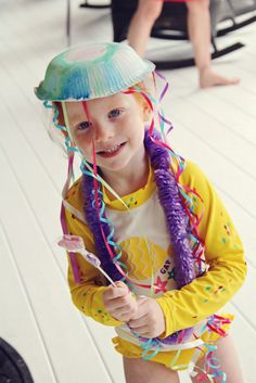 Mermaid Party - Craft: Jellyfish Hats