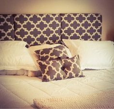 Momma Mia Moments : DIY King Headboard / Total King Size Bed Makeover For $82 LOVE this...I'm definitely making this for our bed.