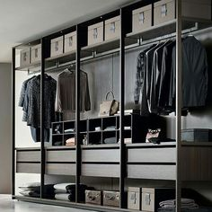 Jesse Pass walk in closet system Bedroom Closet Design, Bedroom Wardrobe, Closet Designs, Wadrobe Design, Dressing Room Design, Dressing Rooms, Walking Closet, Design Industrial, Walk In Wardrobe