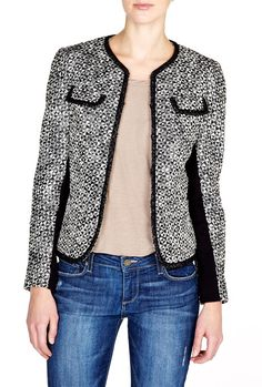 wool jacket with contrast trim - Google Search