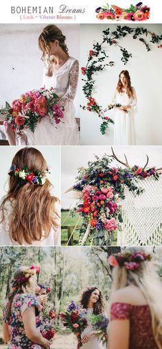 Rustic Boho Rainbow Wedding With Rich Lush Vibrant Blooms