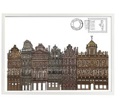 Brussels modern printable wall art home decor   Belgium city print   Architecture scene   Digital download