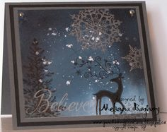 Porch Swing Creations: Rock Salt Background Christmas Card
