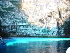 Lake of Mellisani, Kefalonia, Greece.
