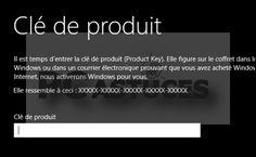 Installer Windows 8 sans clé produit - Windows 8