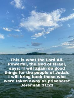 Good Scriptures, Jeremiah 31, Prison, Lord, Bring It On, Bible, Good Things, Sayings, Reading