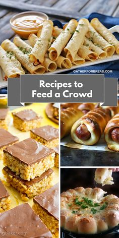 Recipes to Feed a Crowd Easy Entertaining - Recipes and ideas for food to feed a crowd at your gathering.Choices of soups,casseroles, dessert and more.