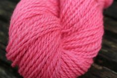 Hand dyed blended lambs wool  Pink by FibahForEwe on Etsy, $12.00