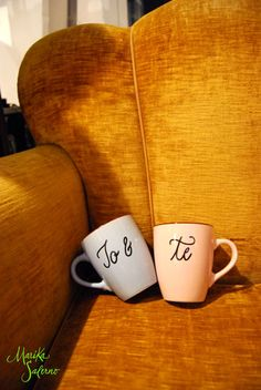 """Io & te"" (Me & you) mugs: for your sweet moments <3"