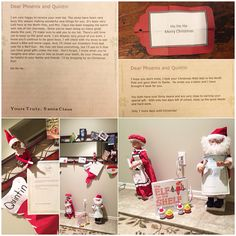 Good Deed Elf Day 18, 2014: The boys made out their Christmas wish lists last night. Freddie found them and delivered them personally to the North Pole! The boys woke up and found that they had received a letter back from Santa Claus! They made it onto the nice list!