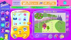 Barbie.com I designed this game that turned out to be the most popular game on Barbie.com.  (circa 1999)