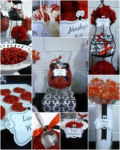"""I like the presentation of the lollipop roses. Tall cylinder vase w/ white """"lining"""" to hide lollipop sticks & the labeling."""