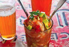 Mexican Shrimp Cocktail (coctel de camarones) from The Hot Sauce Cookbook's Robb Walsh / For the pico de gallo: www.seriouseats.com/recipes/2013/06/classic-pico-de-gallo-salsa-fresca-recipe.html