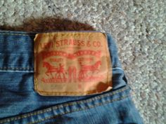 Levi Strauss & Co. Mens Blue Jeans Size W34 L38 #LeviStraussCo #OriginalRiveted #BigAndTall #Jeans #CoslersEbay #MarchMadness #Clothes #Men
