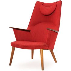 High-Back Lounge Chair by Hans J. Wegner