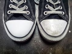 Two Girls And Their Ideas: How to clean the rubber tips on your Converse shoes!