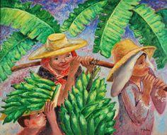 ''Colhendo Bananas '' Descartes Gadelha. Brazil.