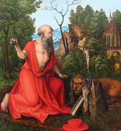Saint Jerome by Hans Leonhard Schaufelein {1504~05}