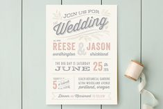 Rustic Charm Wedding Invitations by Hooray Creative at minted.com $2.34 each with envelope. $74 for rsvp postcard. In yellow and grey