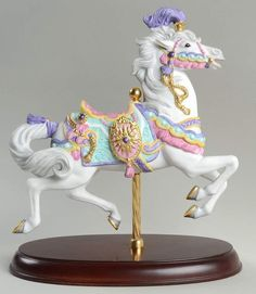 Lenox CAROUSEL ANIMALS FIGURINE 1990 Carousel Charger 73180