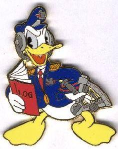 Disney Auctions (P.I.N.S.) - Donald Duck Air Crew Navigator Pin