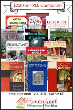 WOW...DON'T MISS THIS... $250 of FREE Educational Downloads @ http://homeschoolgiveaways.com/black-friday-freebies-2015/?c97351Le ** Limited time only...Ends 12/1/15 **