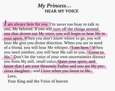 To My Princess... hear My voice