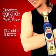 Corbatas fuera de serie!! Pásatela divertido en tus fiestas con #PartyFace  #DisfrutaTuMomentoGlobomanía