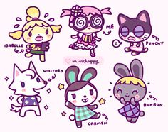 mis0happy: Drew some of my Animal Crossing towns peeps.