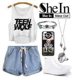 """SheIn: Wolf"" by pecolajones ❤ liked on Polyvore"
