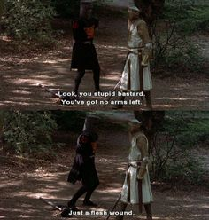 Monty Python And The Holy Grail  It's just a flesh wound